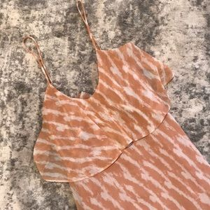 BCBG Maxi Ruffle TwoToned Dress